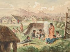 Matata Pa, Refuge of the Murderers of the Rev. Volkner by C Kemp The Rev, Painters, New Zealand, Colonial, Script, Europe, Culture, Dance, History