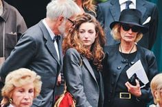 photo by WWD staff: Thadee & Anna Klossowski & Loulou de la Falaise at YSL's funeral