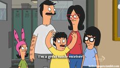 """Generally with anyone who played with your hair.   Community Post: 16 Ways Gene Belcher From """"Bob's Burgers"""" Understands Your Teen Years"""