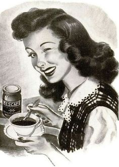 looks like it may be a ad Vintage Vibes, Vintage Ads, Vintage Images, Nescafe Instant Coffee, Coffee Hound, 1950s Aesthetic, Vintage Housewife, Classic Image, Vintage Coffee