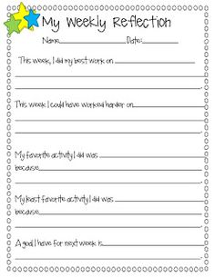 Student Data Collection & A Freebie! Weekly reflection sheet More ...
