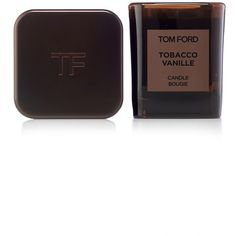 Tom Ford Private Blend 'Tobacco Vanille' Candle ($250) ❤ liked on Polyvore featuring home, home decor, candles & candleholders, no color, chocolate scented candles, wood scented candle, vanilla scented candles, tom ford and wood home decor