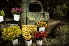 farm truck and flowers - Google Search