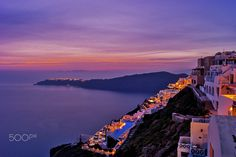 Imerovigli at the Night - null Santorini Island, Greece, Clouds, Night, Outdoor, Greece Country, Outdoors, Outdoor Games, Cloud