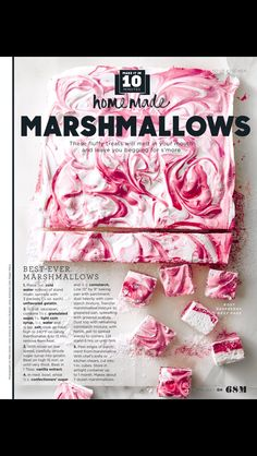 """""""Homemade Marshmallows"""" from Good Housekeeping, May 2017. Read it on the Texture app-unlimited access to 200+ top magazines."""