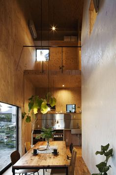 Plywood interior by mA-style architects