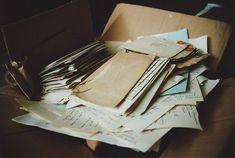 Vieja caja de cartas <3 que precioso, amo estas cosas!