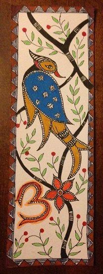 Handmade Bookmark Bird of Paradise Laminated Om