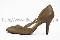 Giày cao gót Next xoắn cạnh sườn, chiều cao 7cm, da thật