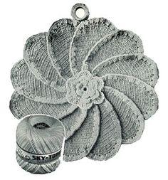 Rose Pinwheel Potholder a Vintage Crochet Pattern - use an alternate color for the edging