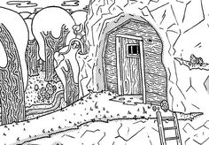 Here's another sneak peak of my new zine all about fantasy taverns. Any ideas on what kind of tavern it might be?  #dungeonsanddragons #dnd #artist #art #artwork #instaart #illustration #dnd5e #draw #drawing #inked #ink #sketching #doodles #doodle #roleplay #rpg #character #dungeondrawingdudes #lineart #linework #fantasy #fantasyart #adventure #slowquest #games #game