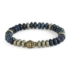 Men's Pyrite Prosperity Buddha Bracelet – Lari's Jewelry Designs