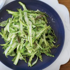 Shaved Raw Asparagus with Parmesan Dressing