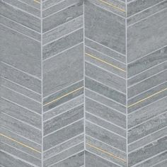 Check out the deal on Bedrosians Ferrara - Argento Chevron Mix Honed Stone Mosaic with Brass at GBTile Collections Marble Mosaic, Stone Mosaic, Stone Tiles, Mosaic Glass, Mosaic Tiles, Wall Tiles, Exterior Tiles, Interior And Exterior, Chevron Tile
