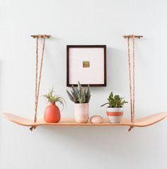 Love the laid back look of skateboard decor? Here are five fun and inspirational projects you can make for your home. Hanging Skateboard Shelf, DIY from Jillian of 100 Layer Cake Skateboard Deck Swing, DIY from For the Love of… via Apartment Therapy Skateboard Lampe, Skateboard Decor, Skateboard Shelves, Skateboard Furniture, Surf Decor, Decoration Surf, Wall Decor, Room Decor, Affordable Home Decor