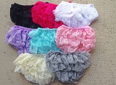 Lace Bloomers YOU PICK COLOR  3 sizes by BabySquishyCheeks on Etsy