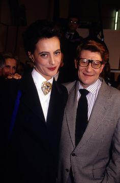 Yves Saint Laurent and Ines de la Fressange in Paris in January 1995. #YSL