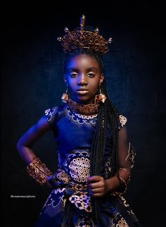 "Stunning African-American Princess Photo Series Celebrates ""Diversity In Fantasy"" Blue Eyed Girls, Black Girls, Black Babies, Black Is Beautiful, Black Disney Princess, Shuri Black Panther, Black Cosplayers, African Princess, Black Royalty"