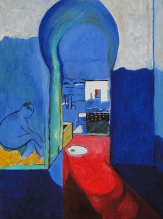 Tangier - Henri Matisse. Oil on canvas. Original created in 1912 - 1913. Presently located at the Pushkin Museum of Fine Arts, Moscow.