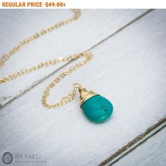 Cyber Week 15%off SALE Turquoise necklace turquoise by ByYaeli