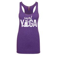 Saved by yoga - Yoga tank top