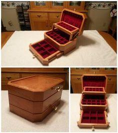 Triple-Tier Jewelry Box