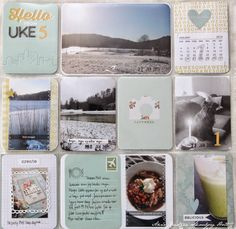 Anne's paper fun:  PROJECT LIFE January Remembrance Page, recipes and all.  She even remembers her card and tag making!  We should all make an Album of our crafts we created!  Look back and be amazed at how many crafty things we made!