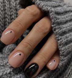 Idea de uñas sencillas y fáciles #uñas#uñaslindas#manicure#ideadeuñas Chic Nails, Classy Nails, Stylish Nails, Simple Nails, Trendy Nails, Swag Nails, Simple Elegant Nails, Dream Nails, Love Nails