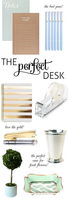 The perfect desk accessories