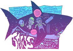 Jaws poster by Dan Hipp