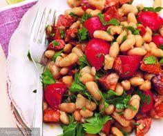 Wtorek - obiad: Sałatka z chorizo i fasoli
