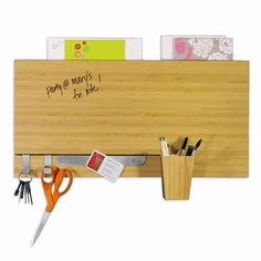 bamboo Dry Erase Wall, Dry Erase Board, Bamboo Cups, Bamboo Panels, Bamboo Board, Bamboo Wall, Office Accessories, Looks Cool, Organization Hacks