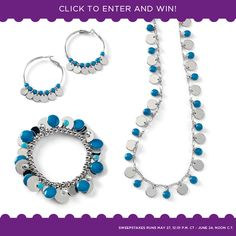 A different prize each day ... the Jamboree necklace, bracelet and earrings. www.liasophia.com/katiearbuckle1