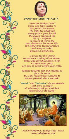 Come Mother Calls - Poem by Armaity Bhabha | sahaja Yogini