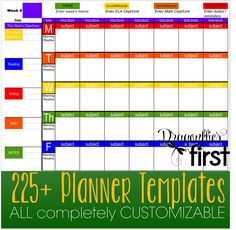 225+ COMPLETELY EDITABLE planner templates and EXTRAS. An entire year's plans in ONE file. EASY to USE. Simplify your Life #Teacherplanner #planbook #planning