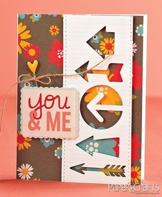 You & Me card by Kathy Martin on Moxie Fab World