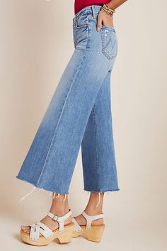 Wide Jeans, Cropped Wide Leg Jeans, Teen Fashion, Spring Fashion, Fashion Outfits, Mother Jeans, Playing Dress Up, Style Guides, Casual Outfits