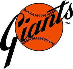 San Francisco Giants Primary Logo (1977) - Giants in black script on an orange baseball