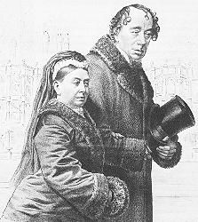 Benjamin Disraeli, and Queen Victoria. Disraeli acted as Prince Albert, after Albert's death. He influenced Queen Victoria with his politics, and they seemed to be close friends.
