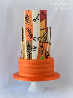 Birch Tree Cake - Sugar Art for Autism Collabration by CakeHeaven by Marlene