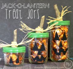 The Scrap Shoppe: Jack-O-Lantern Treat Jars