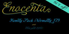 Enocenta (60% discount, from $2.00) - http://fontsdiscounts.com/enocenta-60-discount-2-00/