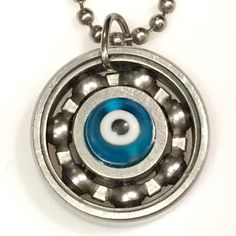 The evil eye is a curse believed to be cast by a malevolent glare, which is usually directed towards a person who is unaware. Evil eye jewelry reflects the evil intent back to the onlooker. It somewhat resembles an eye and it is said the typical blue color is a factor in protecting the user. Pick up your evil eye today; safety guaranteed! #derbygirldesigns #bearingjewelry #jewelrythatrocks #evileye #evileyejewelry #shakeoffthatcurse #curses #staysafe #bluejewelry
