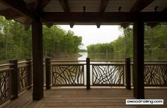 Wood Deck Railing Design Ideas See deck railing at http://awoodrailing.com