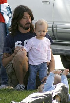 Dave Grohl and his bay-bee.