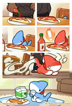 Adorable Shark Puppy Comics Is The Best Thing You See Today - # cute comics Adorable Shark Puppy Comics Is The Best Thing You See Today Cute Animal Drawings, Kawaii Drawings, Cute Drawings, Baby Animals, Funny Animals, Cute Animals, Cute Comics, Funny Comics, Illustration Kawaii