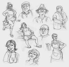 Tina Nawrocki - Art and Animation: Character Design - Caricatures - Ranczo 2