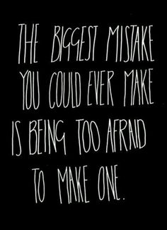 .The biggest mistake