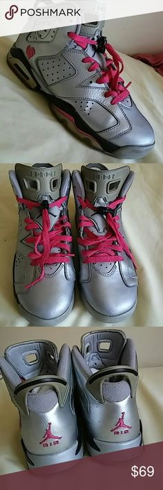 Nike Air Jordan 6 Retro Valentine's Day .SIZ 9 WOM Gently used Retro 6 Valentine's day size 9 FOR WOMEN and 7Y...Shoes is missing only insert/insole...and its rated 8.5/10..Shoes stock number is......543390 009...this is 200% Authentic nike product. Nike Shoes Sneakers