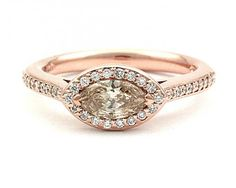 Want! - to turn my marquise diamond sideways. New way called *East West ring*. Love!!